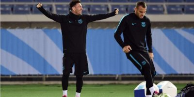 Messi se agrega al entreno un día antes de la Final del Mundial de Clubes