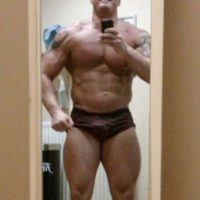 Así lucía Dean antes de abusar de los esteroides. Foto:Vía Facebook/Dean.wharmbypt