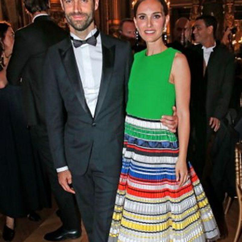 Está casada con el coreógrafo Benjamín Millepied. Foto:vía Getty Images