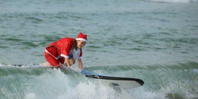 Todos los alumnos tuvieron que vestirse como Santa. Foto:Getty Images
