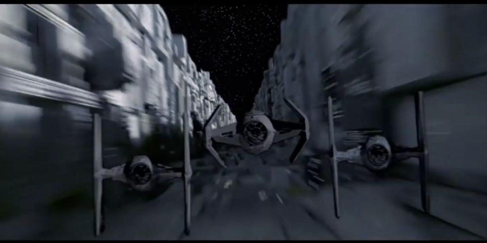 Así lucen las naves de combate TIE en la saga. Foto:Universal Studios