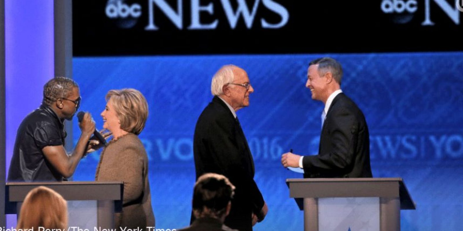 Se rieron de la imagen de Hillary hablando sola Foto:Imgur / Reddit