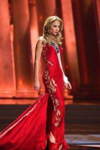 En trajes de gala, hay trabajos artesanales arruinados con telas sobrantes. Foto:vía Facebook/Miss Universe