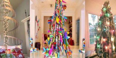 Creativos árboles de Navidad que todos podríamos tener