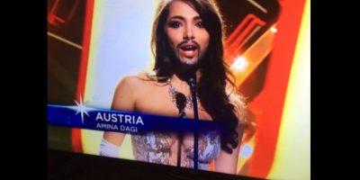 FOTOS. ¿Por qué Miss Austria usó este bigote en su presentación?