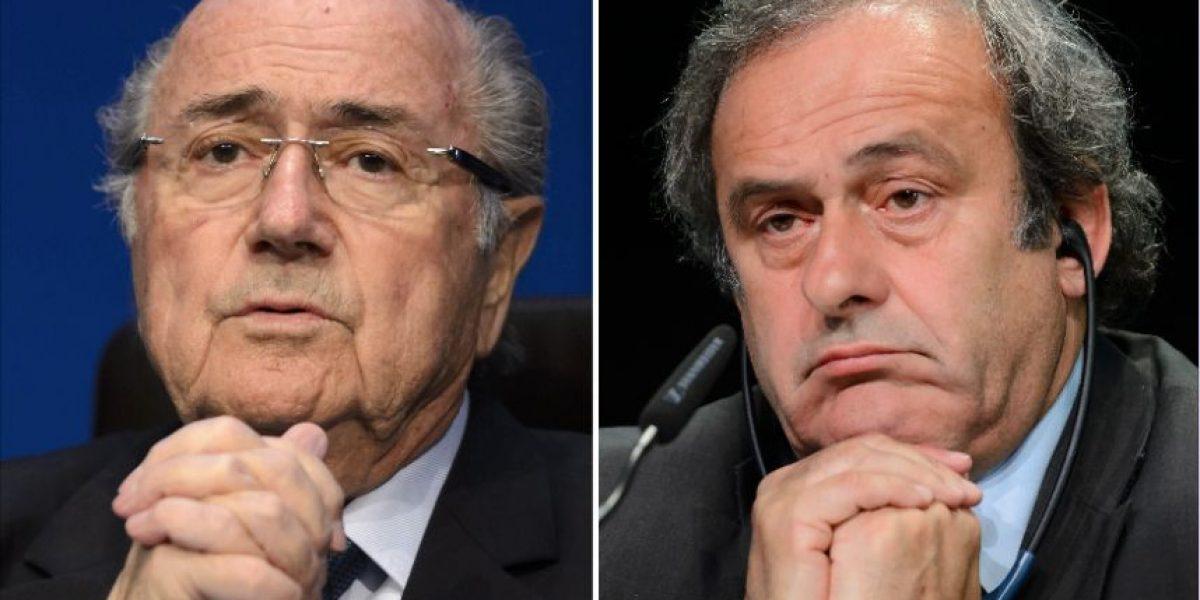 Blatter y Platini, los