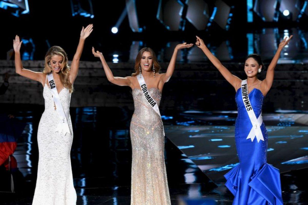 La primer descartada fue Olivia Jons, Miss Estados Unidos Foto:Getty Images