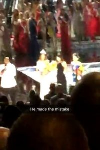 Sin embargo, Steve Harvey aceptó su error Foto:Snapchat – Miss Universe