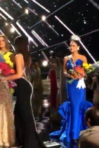Registraron el momento en el que se le quitó la corona a Ariadna Gutiérrez Foto:Snapchat – Miss Universe