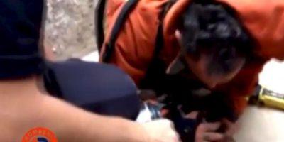2. ¡Increíble! Bombero salva a un cachorro con respiración boca a boca Foto:Facebook.com/BomberosdelConsorcioDeValencia