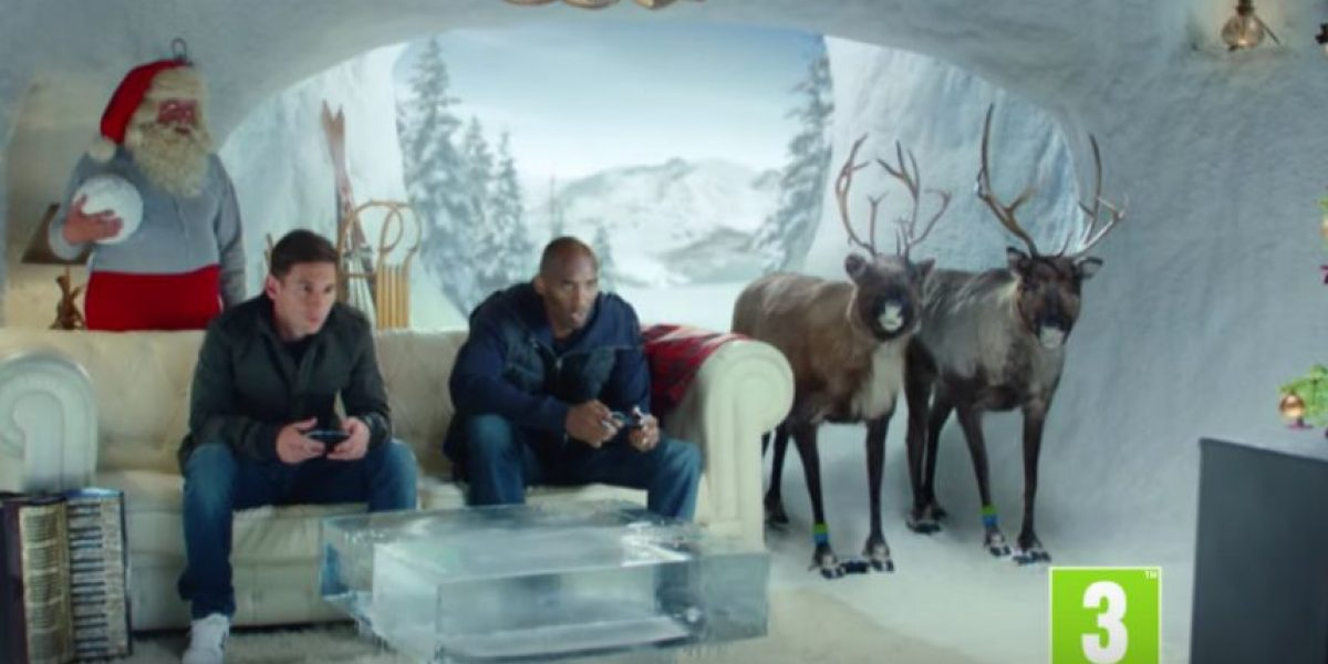 Messi y Kobe Bryant juegan en la Casa de Santa