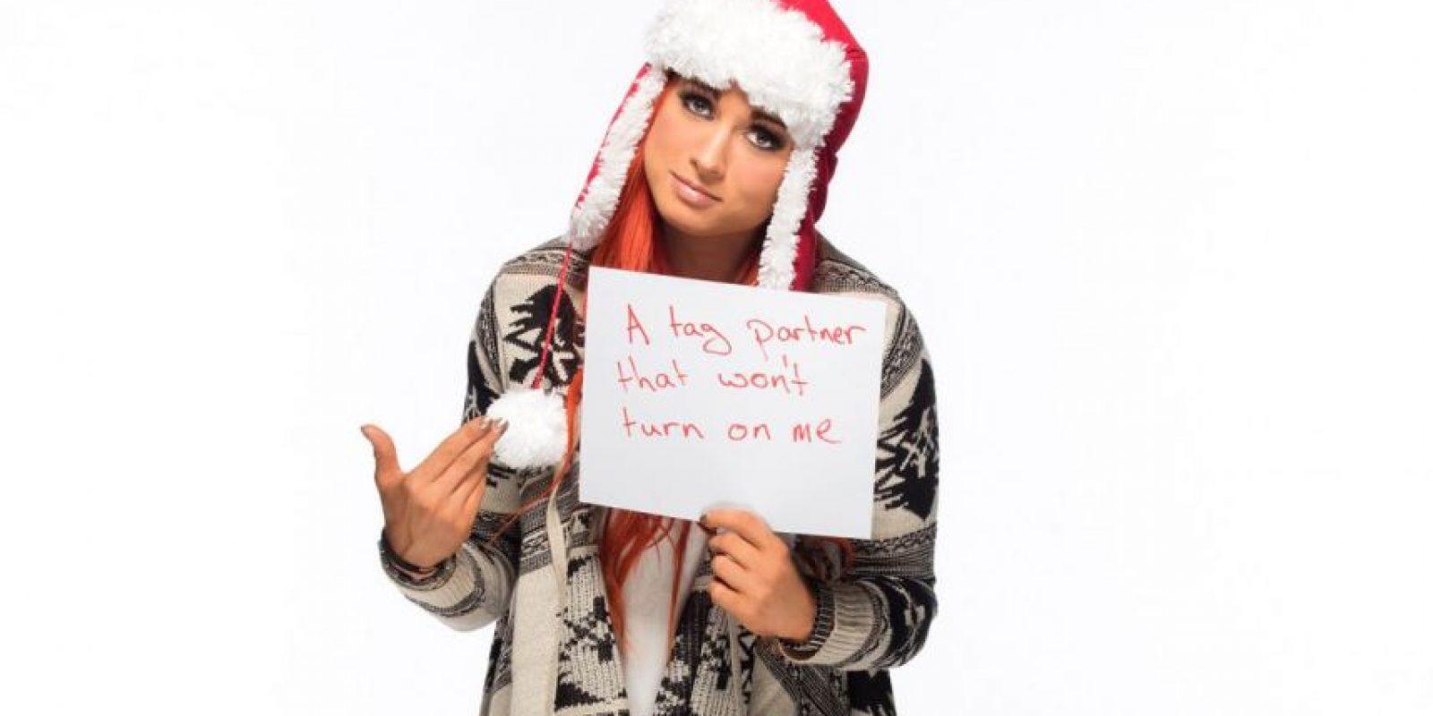 Becky Lynch busca a una pareja que no la traicione Foto:WWE