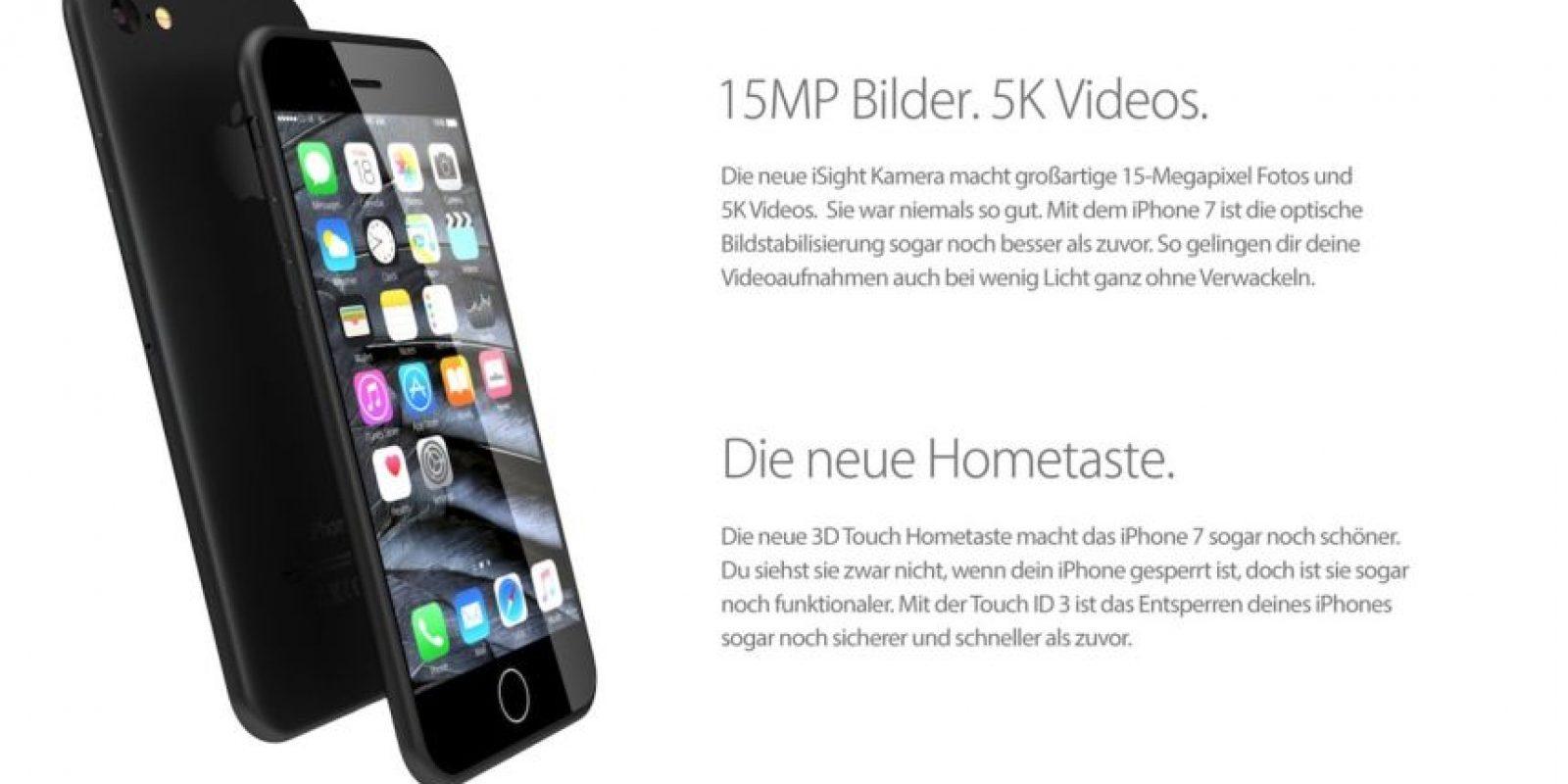 La cámara posterior sería de 15 megapíxeles y grabaría videos en calidad 5K. Foto:vía handy-abovergleich.ch
