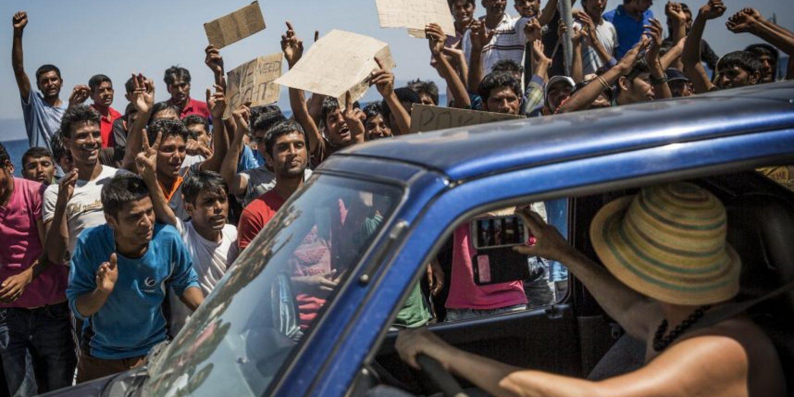Este año trajo consigo una de las peores crisis de migración que Europa y el mundo hayan visto recientemente. Foto:Getty Images