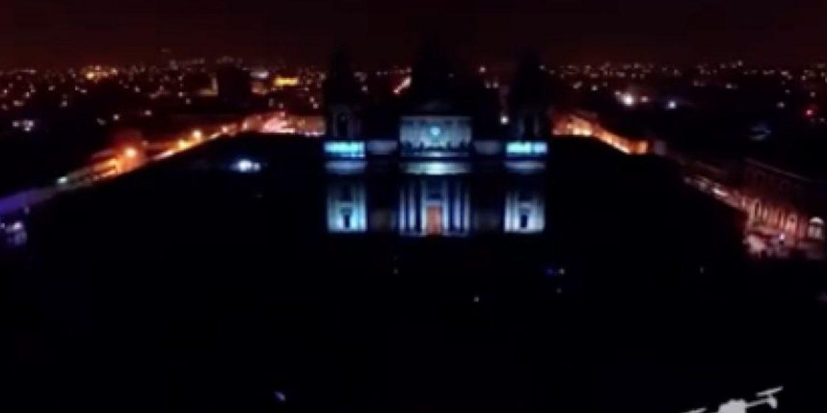 VIDEO. Así se veía el Mapping 3D de la Catedral visto desde un dron