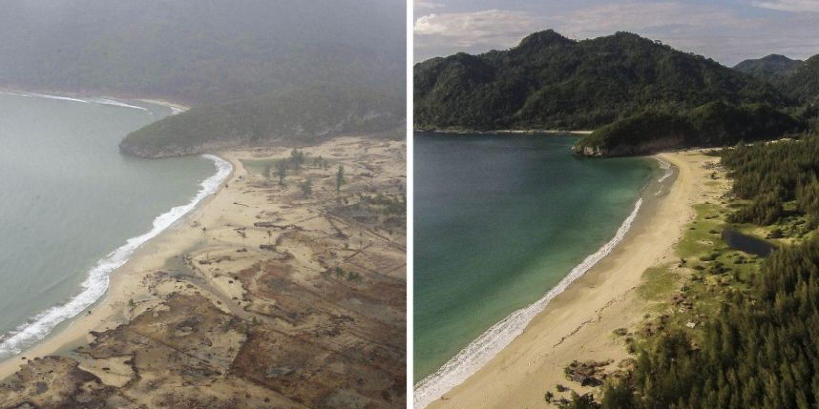 Así cambiaron los lugares destruidos por el Tsunami en el Océano Índico en 2004 Foto:Getty Images