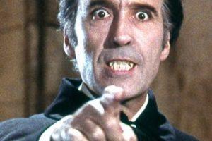 """El actor británico recordado por su personaje de """"Drácula"""" murió el 7 de junio de 2015 Foto:IMDb"""