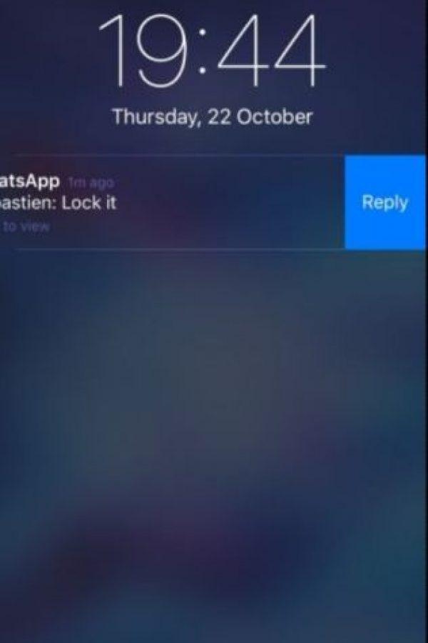 3- Responder desde las notificaciones en el iPhone sin necesidad de entrar en la app. Foto:vía Pinterest.com