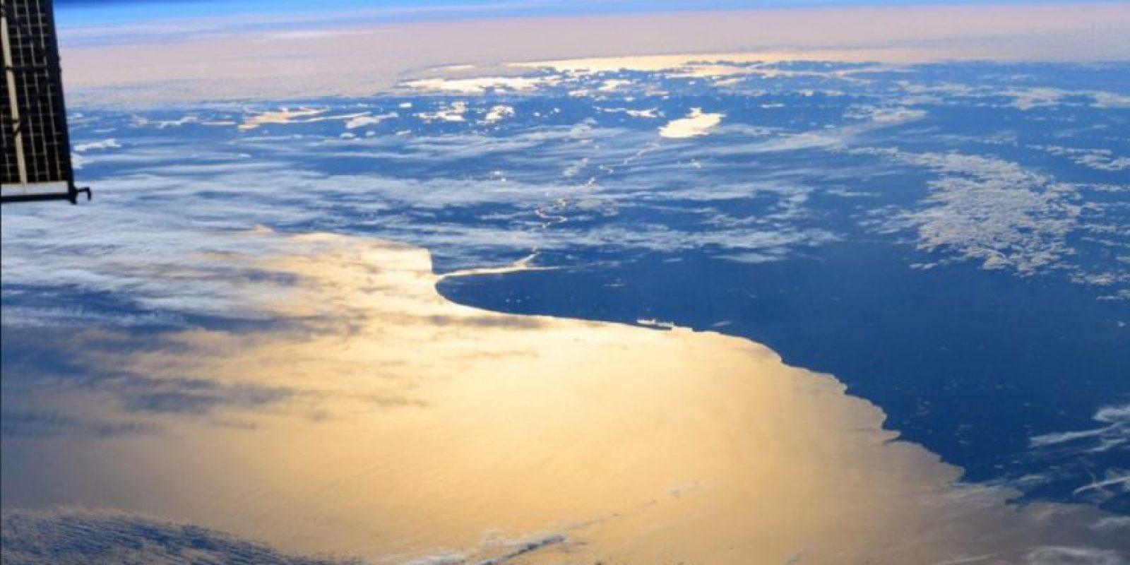 Así retrató el astronauta Terry W. Virts el sur de Argentina. Foto:Vía Twitter @AstroTerry