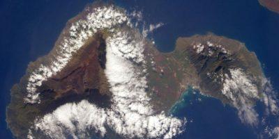 Anton Shkaplerov fotografió la isla Maui ubicada en el Océano Pacífico. Foto:Vía Twitter @AntonAstrey