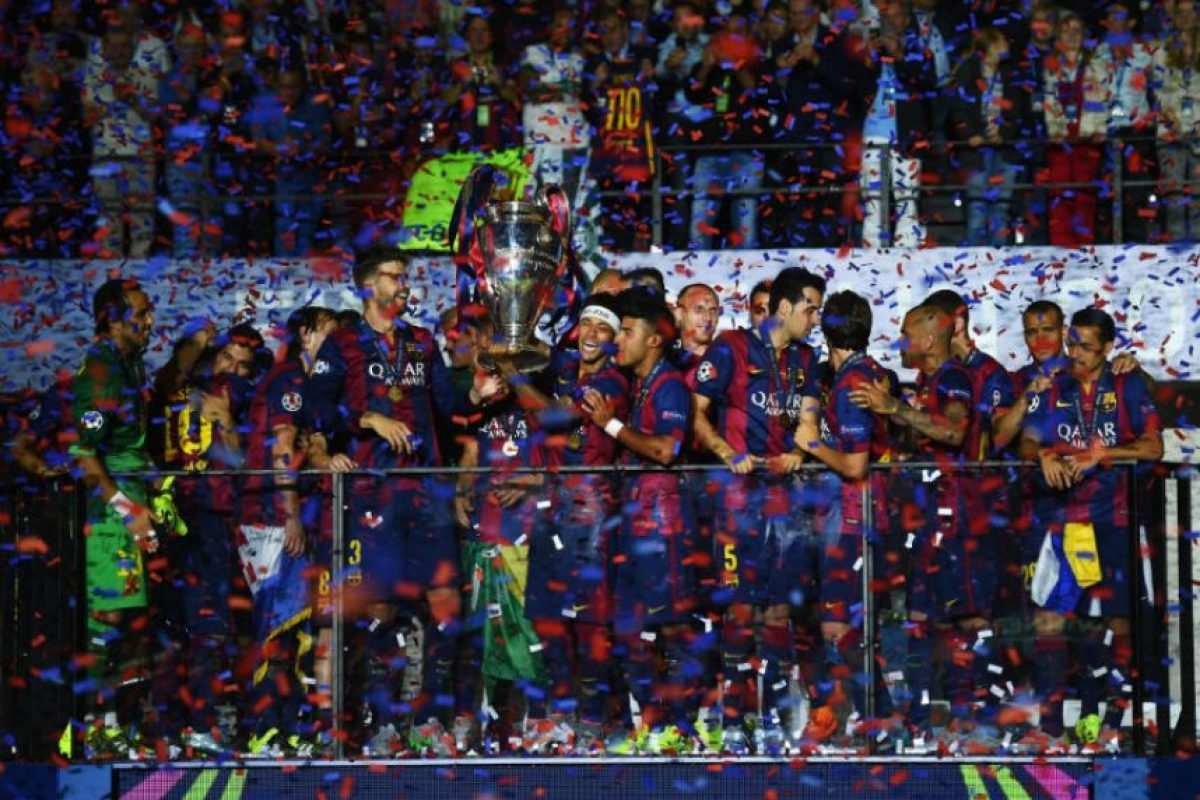 2. Barcelona se consagró como monarca de la Champions League, llegando a cinco estrellas, las mismas que Liverpool y Bayern Múnich Foto:Getty Images