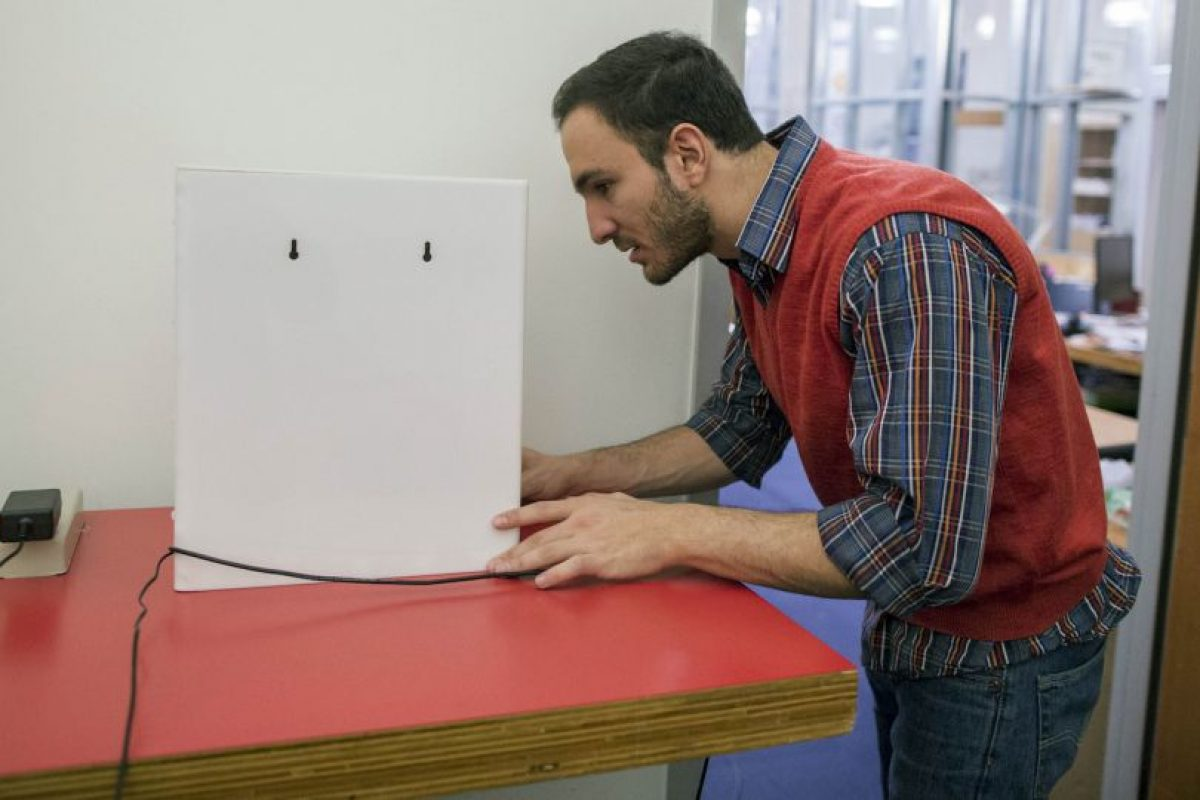 Con ayuda de las señales de radio se pueden reconocer las siluetas humanas. Foto:AP