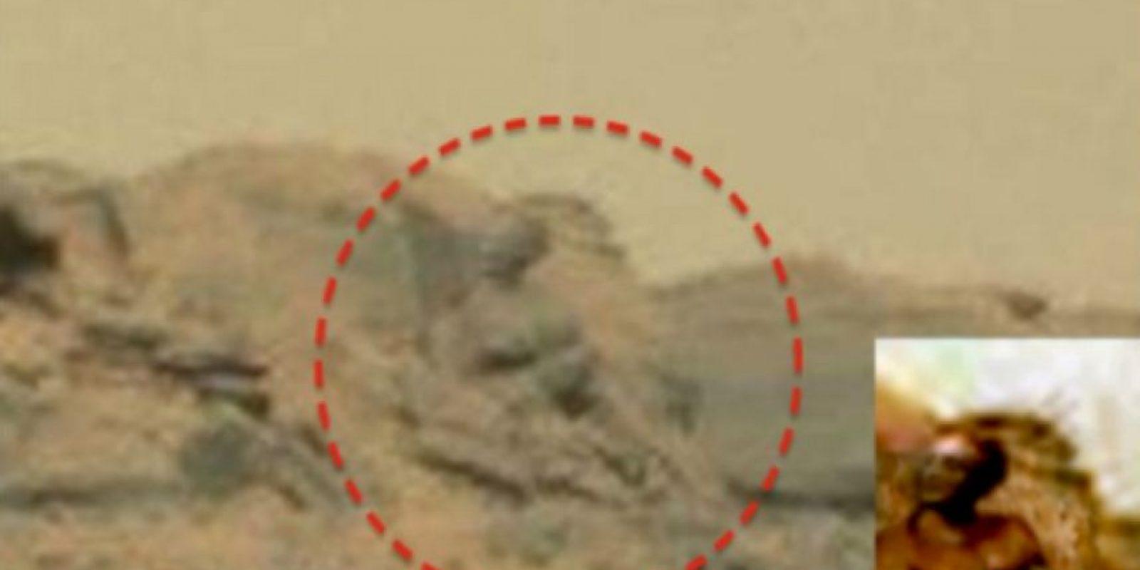 """Un supuesto """"Dios marciano"""" Foto:NASA"""