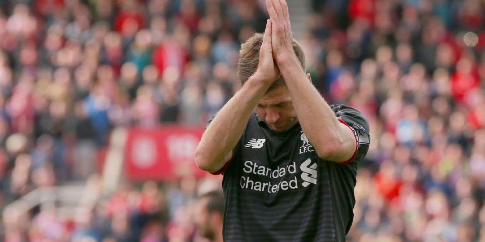 Steven Gerrard debutó con el primer equipo de Liverpool el 29 de noviembre de 1998 Foto:Getty Images