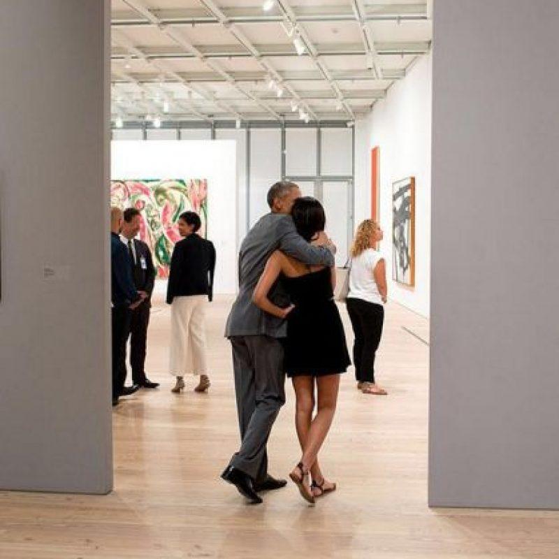 Obama y su hija Malia en el museo Whitney de Nueva York. Foto:instagram.com/petesouza/