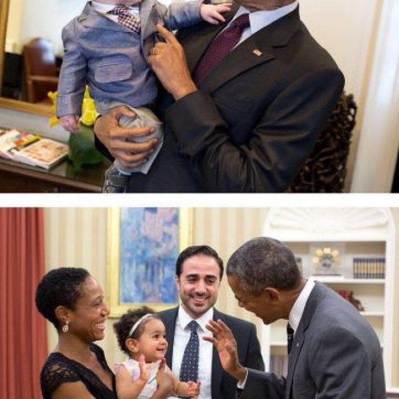 El fotógrafo oficial de Barack Obama tiene muchas fotos del presidente con bebés. Foto:instagram.com/petesouza/
