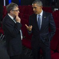 El presidente de los Estados Unidos con Bill Gates, cofundador de Microsoft. Foto:instagram.com/petesouza/