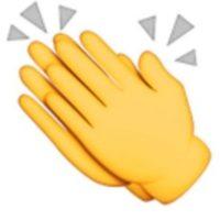9- Manos aplaudiendo. Foto:vía emojipedia.org