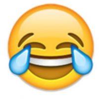 1- Cara llorando de alegría. Foto:vía emojipedia.org