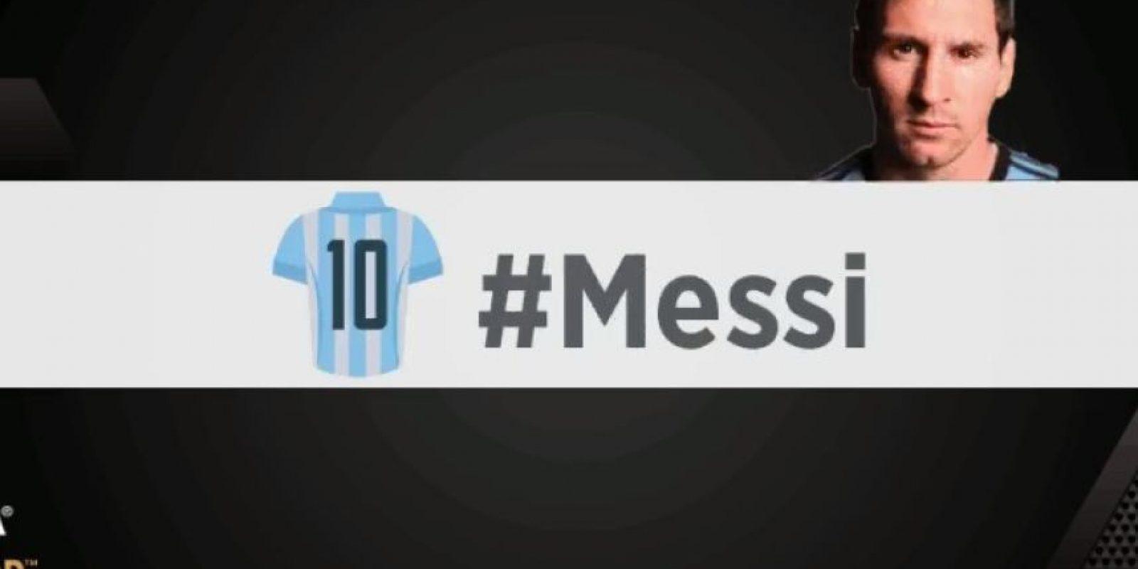 Lionel Messi. Foto:vía twitter.com/fifacom_es
