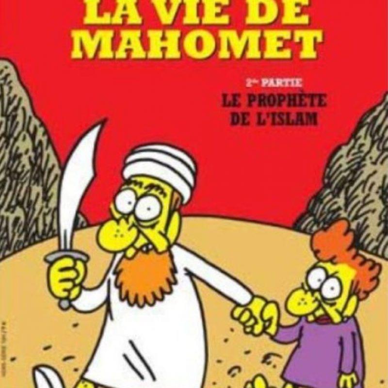 Mahoma era uno de los personajes recurrentes. Foto:Charlie Hebdo