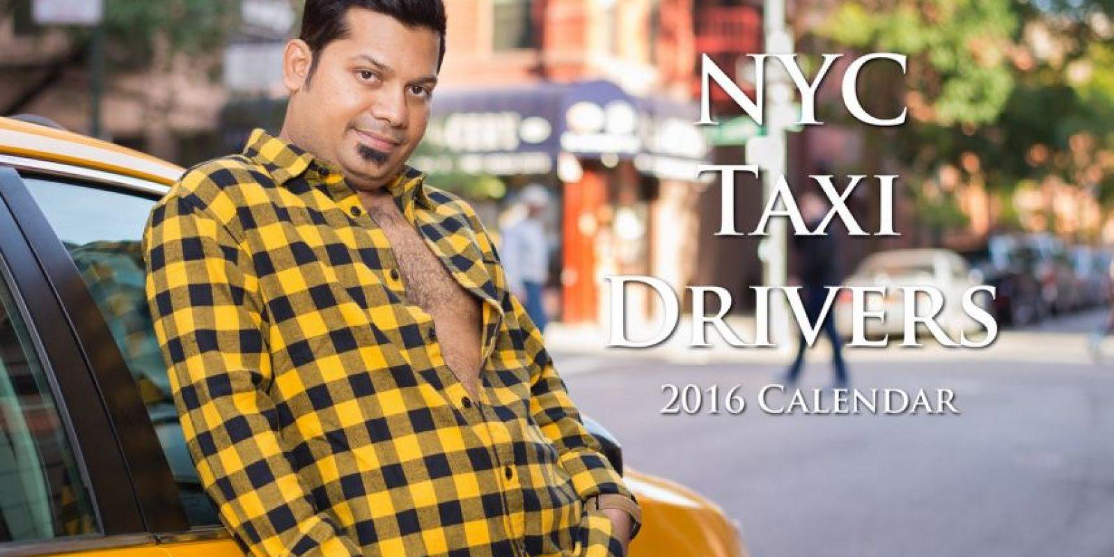 Otros calendarios singulares: Doce conductores de taxi modelaron para este divertido calendario. Foto:Vía nyctaxicalendar.com