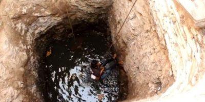 Increíble rescate de un perro que se ahogaba en un pozo Foto:Animal Aid Unlimited