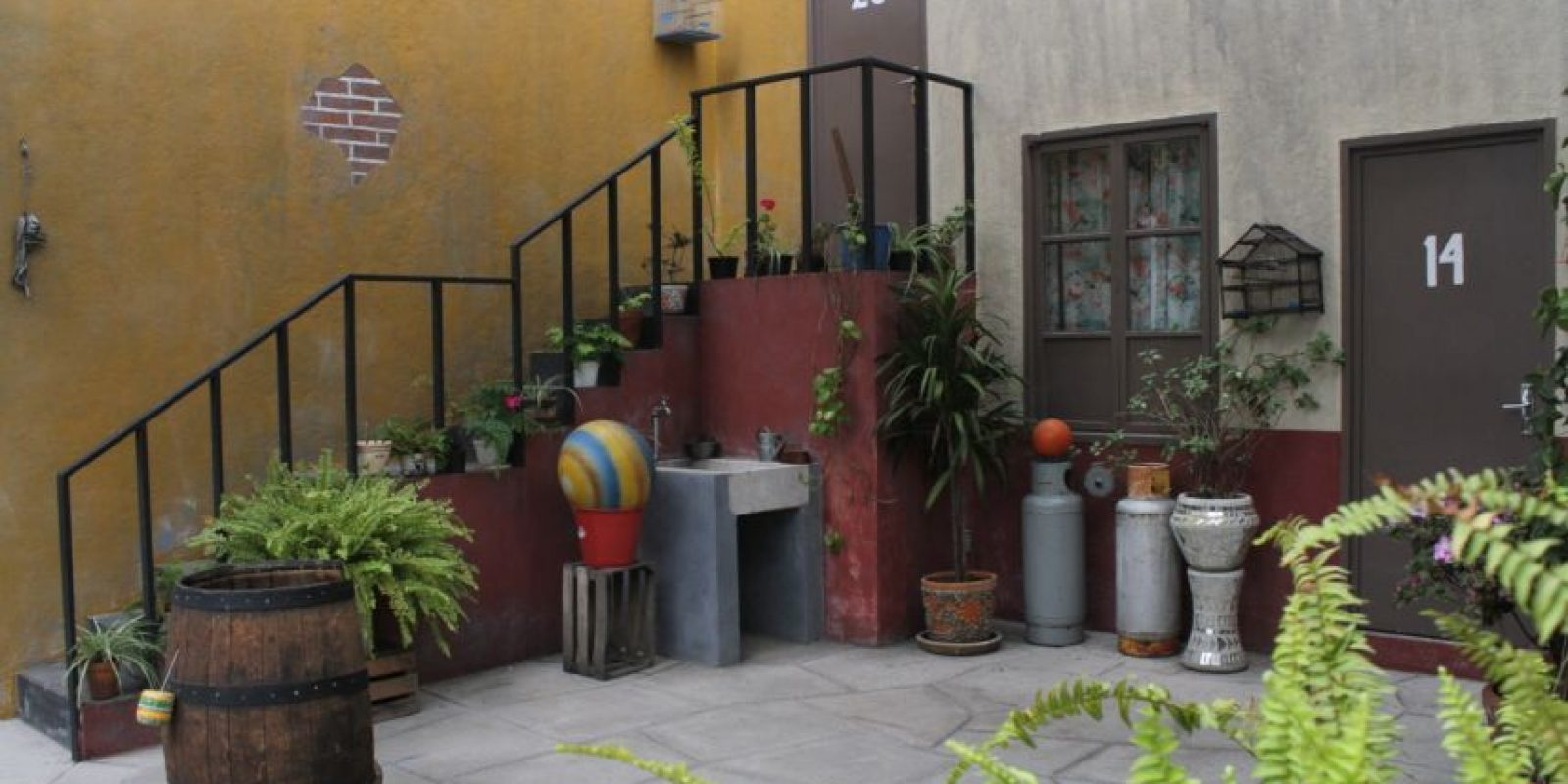 "Al fondo, la casa de ""Jaimito"". Foto:Nicolás Corte"
