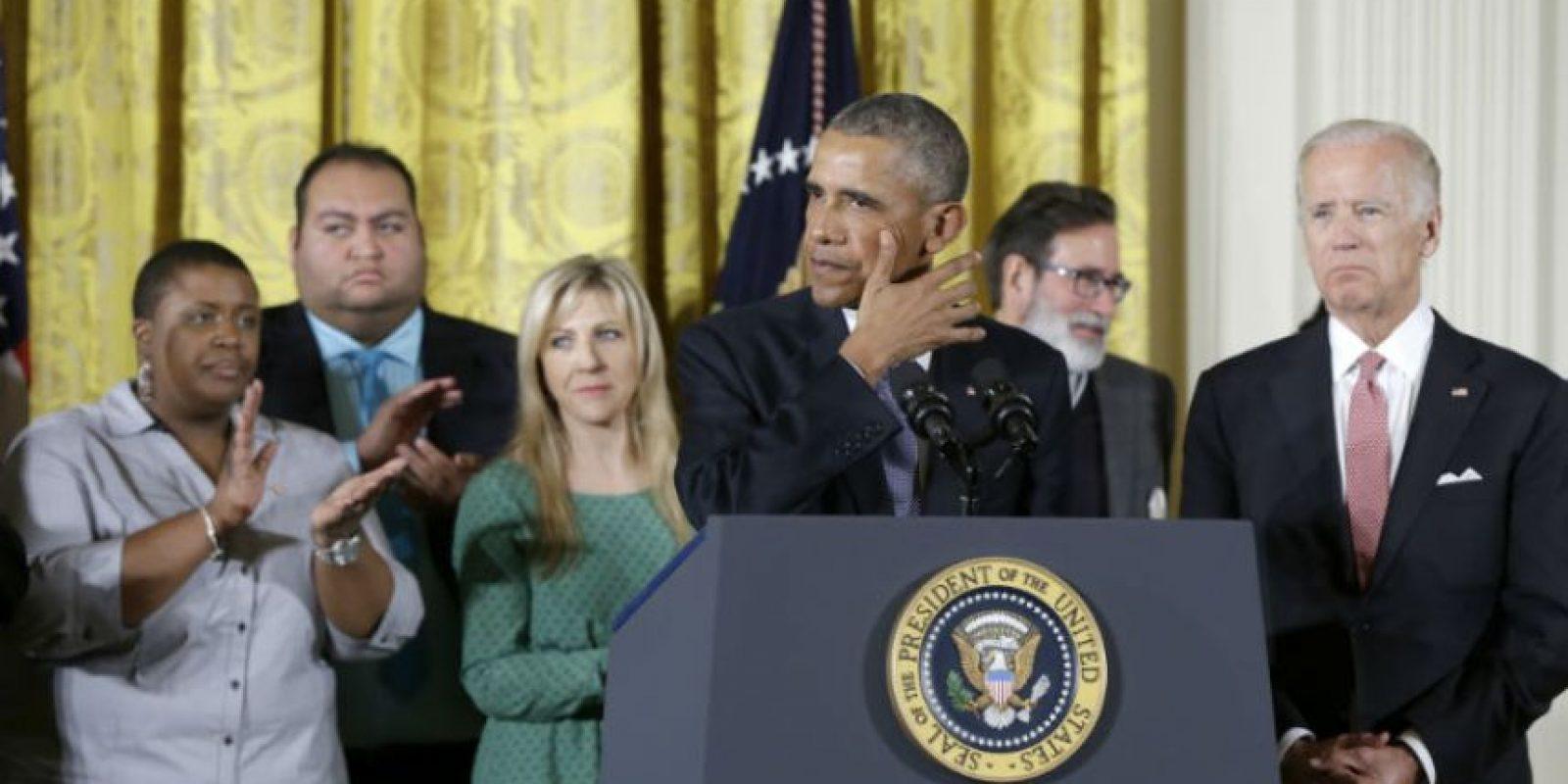 Por lo que instó a los estadounidenses a unirse contra las armas de fuego. Foto:AP