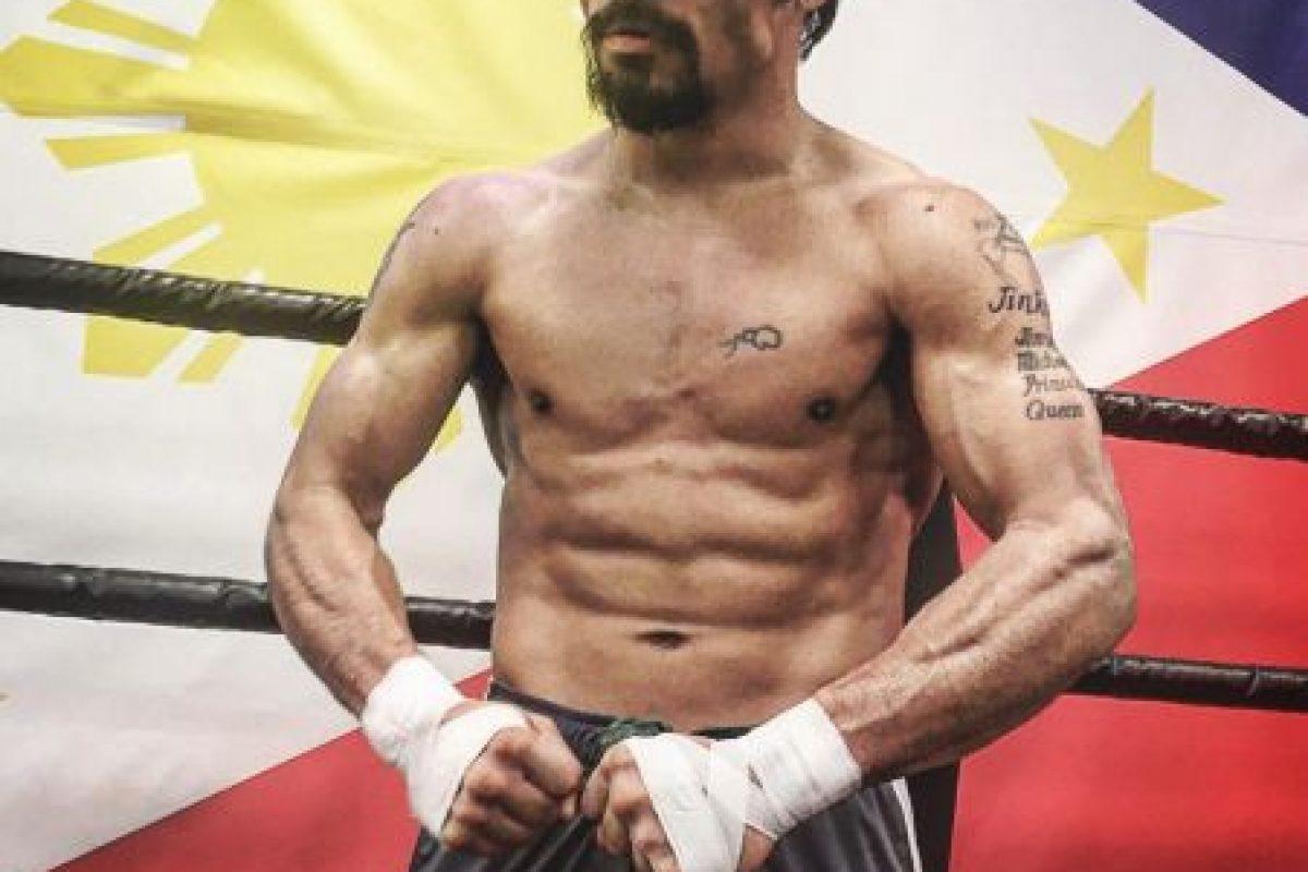 """Entre sus peleas más famosas están los cuatro combates ante el mexicano Juan Manuel Márquez, la pelea frente a Óscar de la Hoya en 2008 y la llamada """"Pelea del Siglo"""" frente a Floyd Mayweather en 2015. Foto:Vía instagram.com/mannypacquiao"""