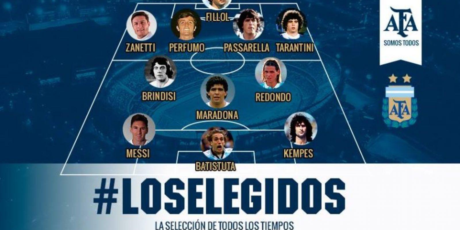 Seis entrenadores argentinos escogieron a la selección ideal de todos los tiempos y ellos fueron los 11 elegidos: Foto:AFA