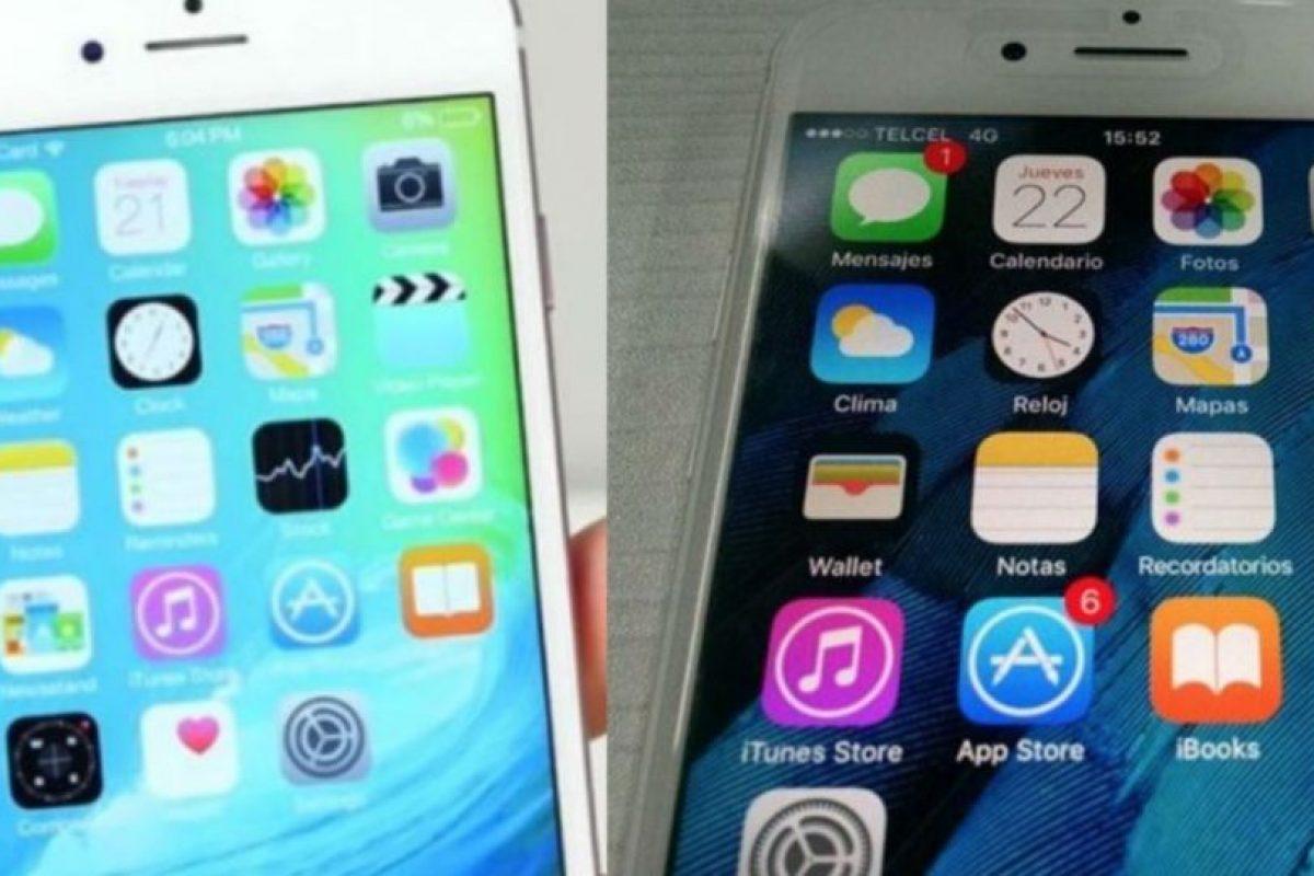 ¿Pueden identificar cuál es el iPhone falso y cuál el original? Foto:YouTube / Especial