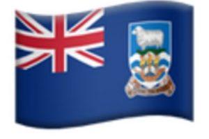 Islas Malvinas en iOS 9.1 de Apple. Foto:vía emojipedia.org