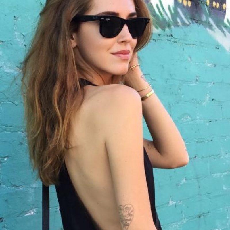 Ella desmiente que sea anoréxica. Foto:vía Instagram/chiaraferragni