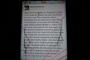 Hizo un escándalo en la vía pública y fue apoyada por los transeúntes. Todo se hizo viral. Foto:vía Facebook