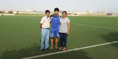El cobanero forma parte del programa Aspire Football Dreams y juega en Senegal. Foto:Publinews