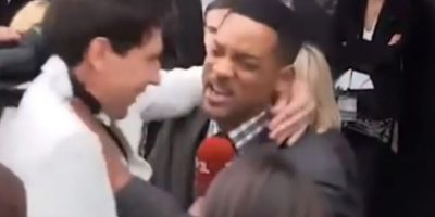 Un periodista de espectáculos terminó casi golpeado por Will Smith. Foto:vía Toutube.com