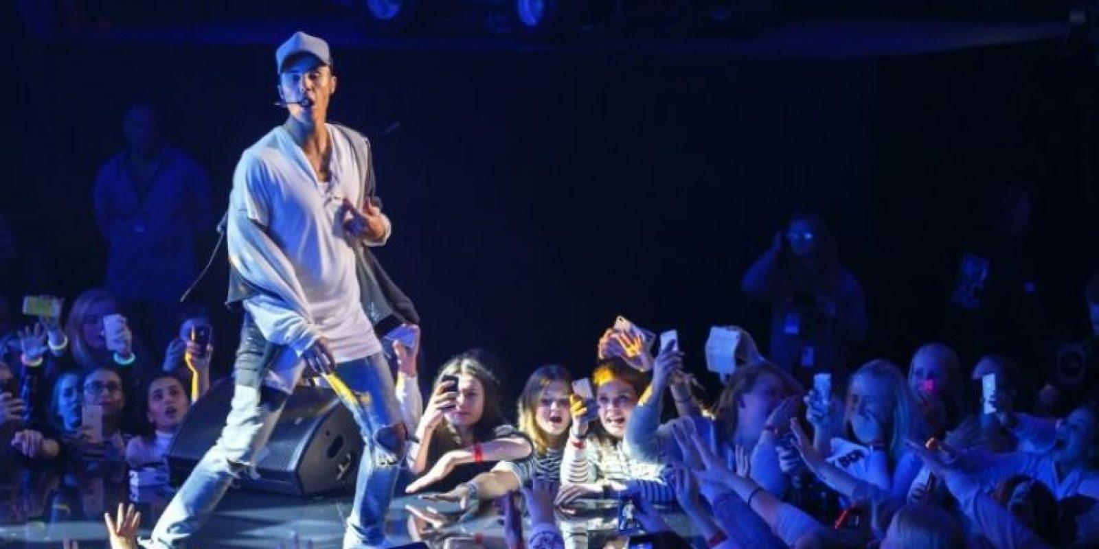 """Tras abandonar una entrevista en """"Los 40 Principales"""", Justin Bieber volvió a comportarse de la peor manera con el público español. Foto:Getty Images"""