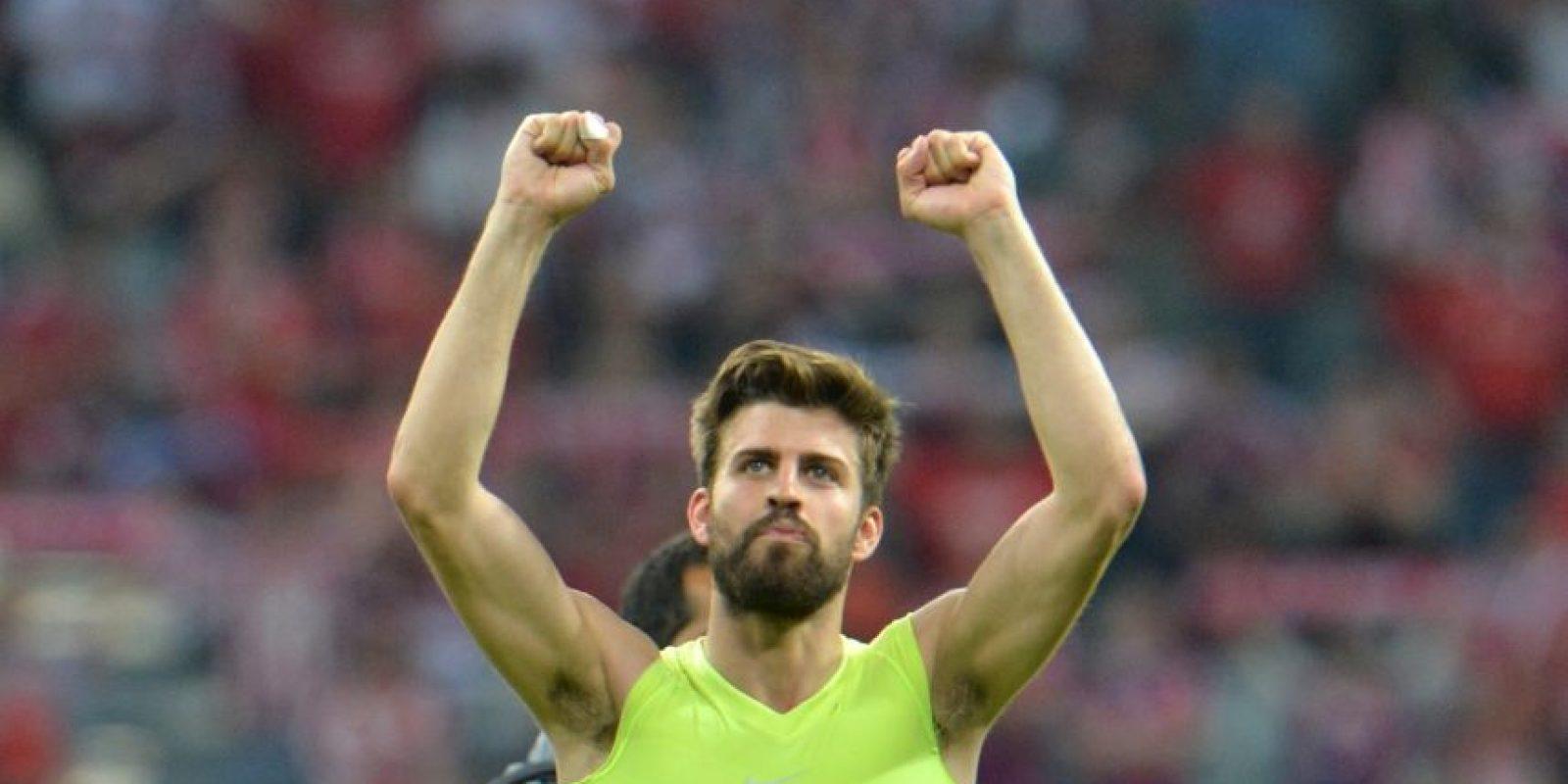 A pesar de las criticas, Piqué siempre cumplió y ayudó a su equipo a conquistar cinco trofeos. Foto:Getty Images