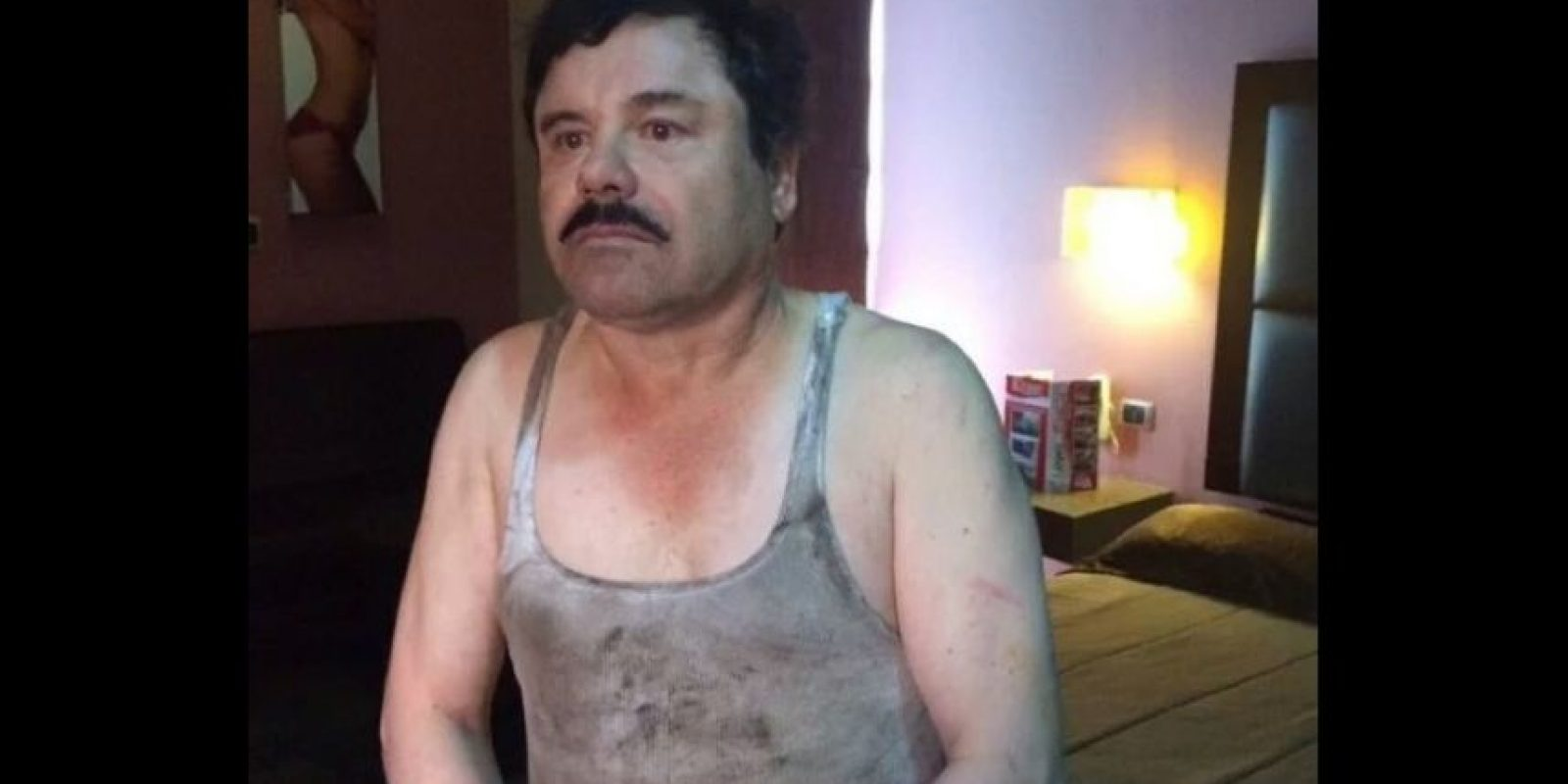 Tras su captura fue trasladado a un motel de la zona. Foto:Vía Twitter